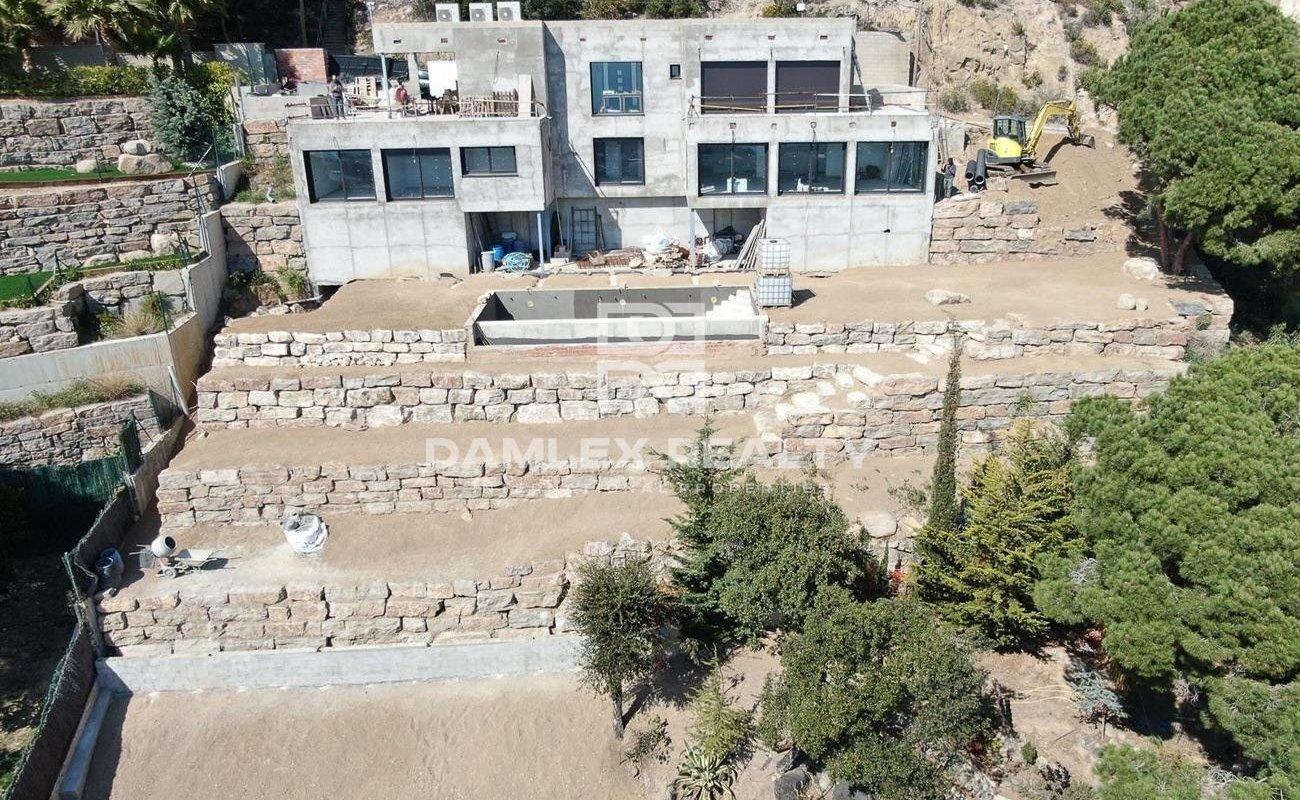 Villa con vistas al mar en construcción. Costa Brava