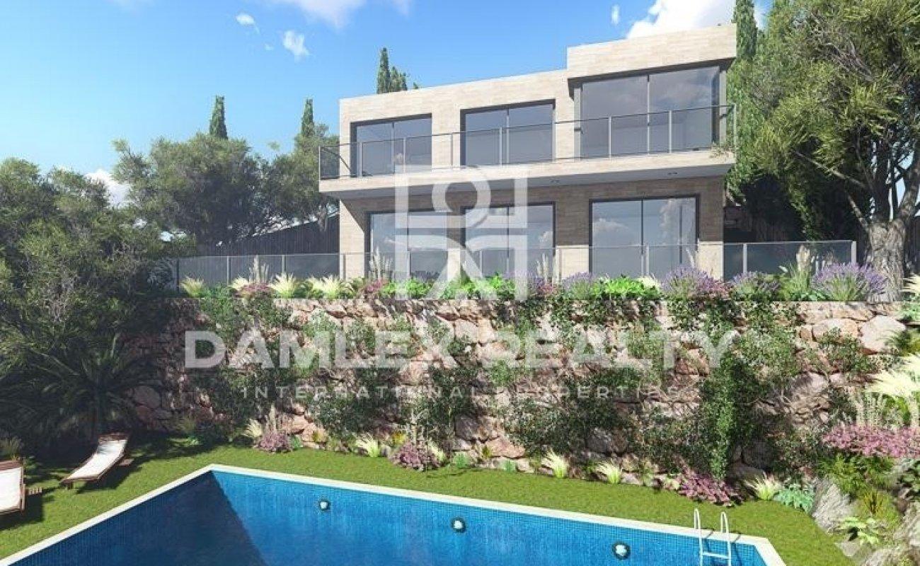 Nueva villa moderna con vistas al mar en la Costa Brava