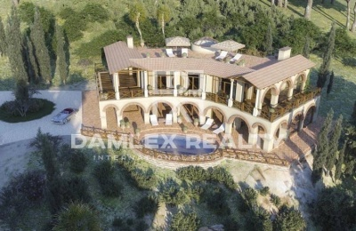 Villa en construcción con espectaculares vistas a la Costa Brava