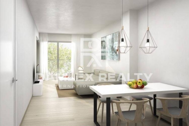 Apartamento en un nuevo edificio en el barrio de Les Corts. Barcelona