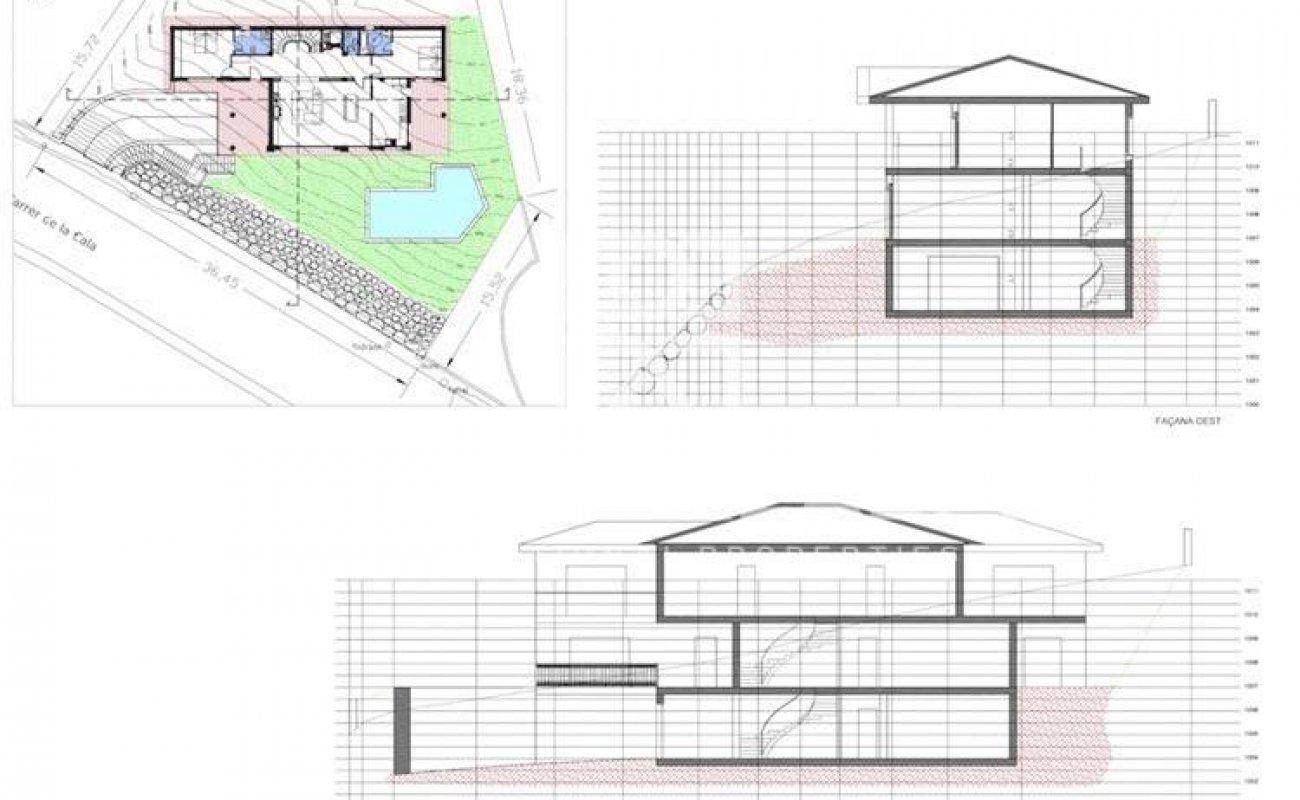 Villa en construcción con vistas al mar en Blanes