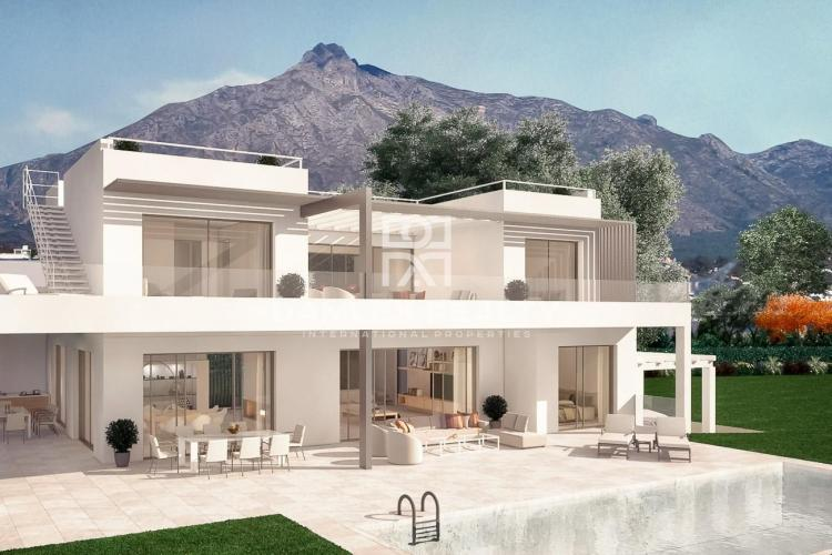 Nueva villa en una prestigiosa urbanización de Marbella, en la famosa Milla de Oro.