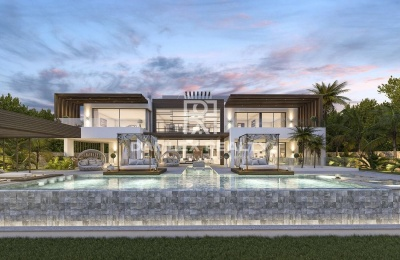 Proyecto de una villa moderna con un hermoso diseño. La Milla de Oro Marbella.