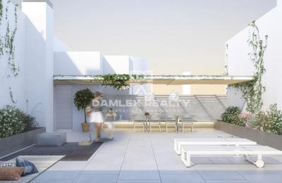Apartamento con jardín propio en un edificio nuevo en Barcelona