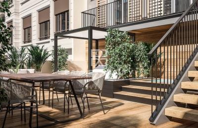 Apartamento con gran terraza en unedificio nuevo en Barcelona