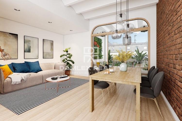 Soleado apartamento con terraza en el Eixample