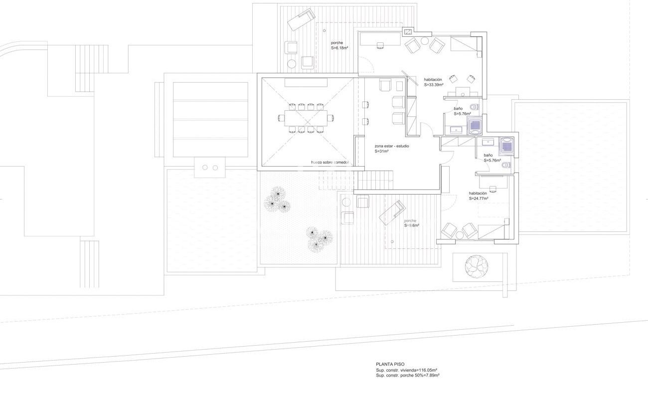 Three plots of land for the construction of one or three villas
