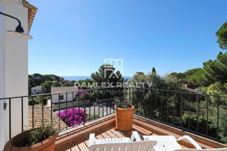 Casa con fantásticas vistas al mar en venta en El Golfet, Calella de Palafrugell cerca de la playa
