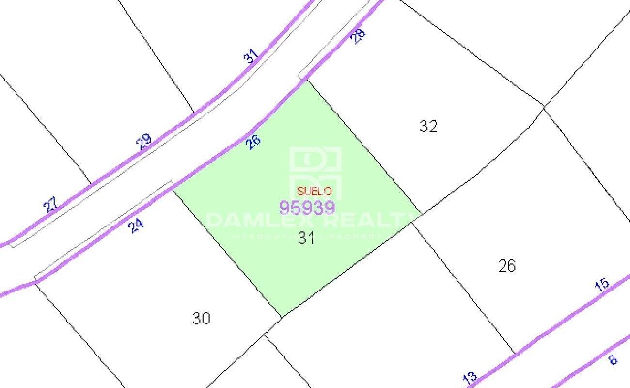 Parcela de terreno 850 m2 para construir una casa individual