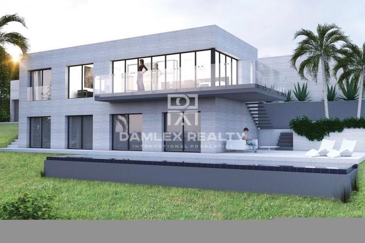 Villa moderna en construcción en Costa Brava